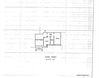 BL01 Pianta catastale appartamento