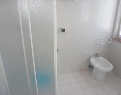 Bagno con due finestre e doccia